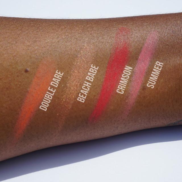 Red, Pink, Orange, Bronze NYX Blushes Swatches