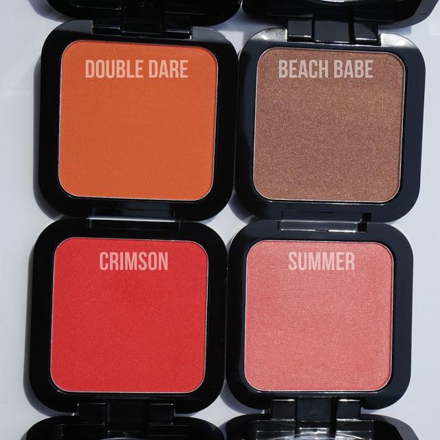 Red, Pink, Orange, Bronze NYX Blushes