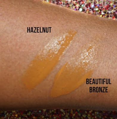 Brown Foundation swatches