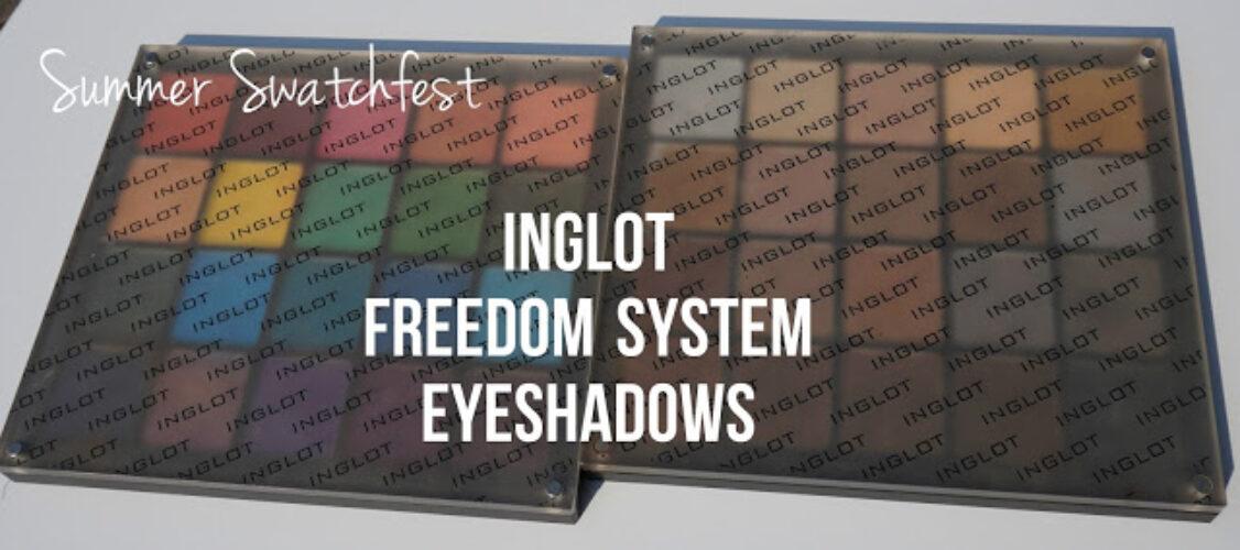 "Summer Swatchfest: Inglot Freedom System Eyehadows ""Brights"""
