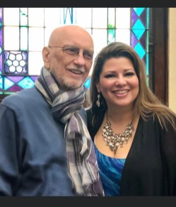 Michelle with composer Wayland Rogers