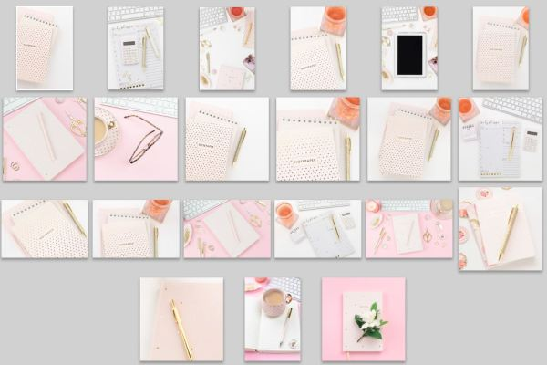 Pink & White Desktop Collection Overview Al Images