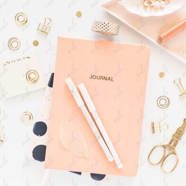 Styled Stock Photography - Peach & Gold Desktop #02