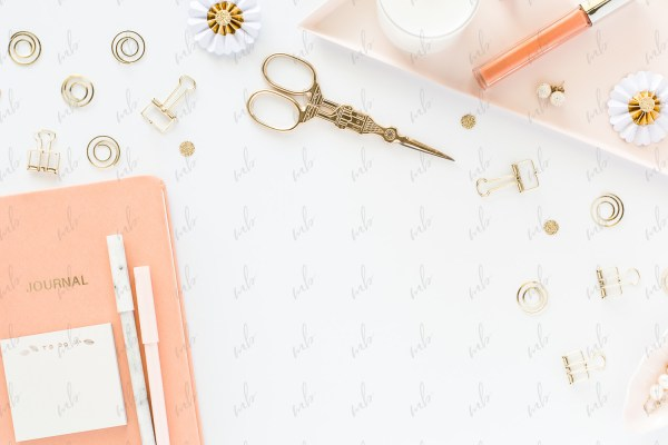 Styled Stock Photography - Peach & Gold Desktop #01
