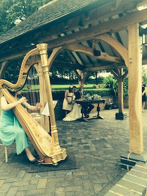 Wethele Manor wedding harpist