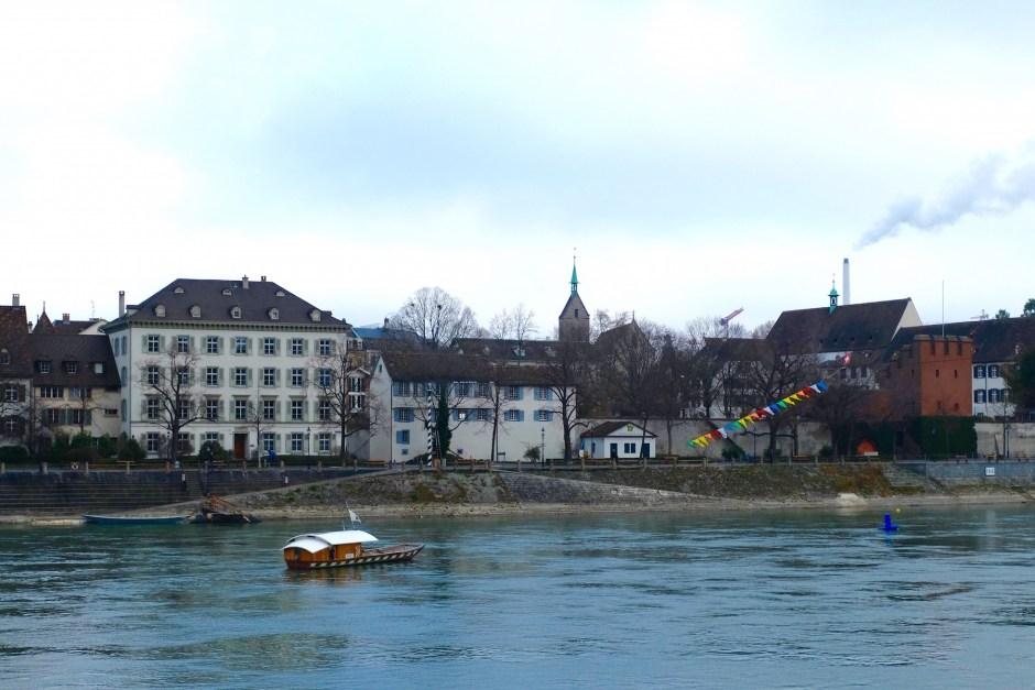 Boat in Rhine river