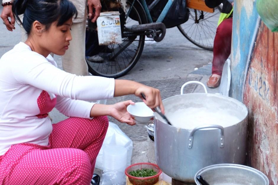 Congee in Hanoi Street