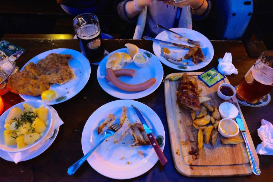 Dinner at Salm Brau