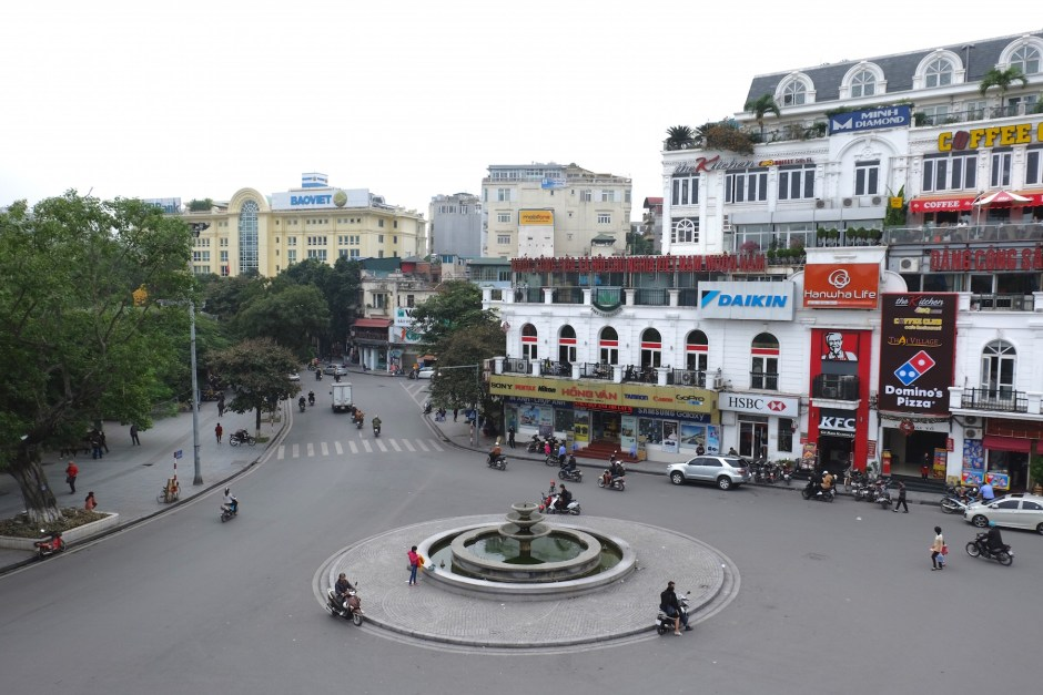 Roundabout in Hanoi