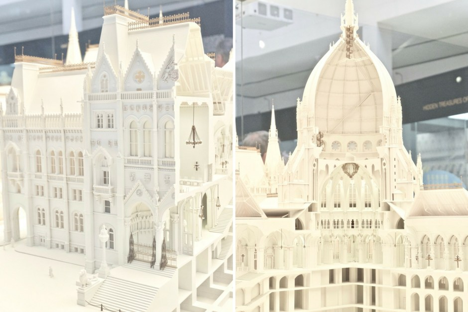 Detail of the Hungarian Parliament Miniature