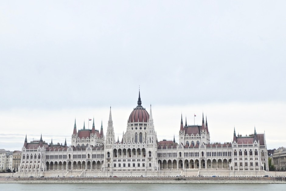 Hungarian Parliament Building from across river