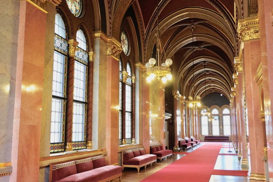 Hungarian Parliament Hallway