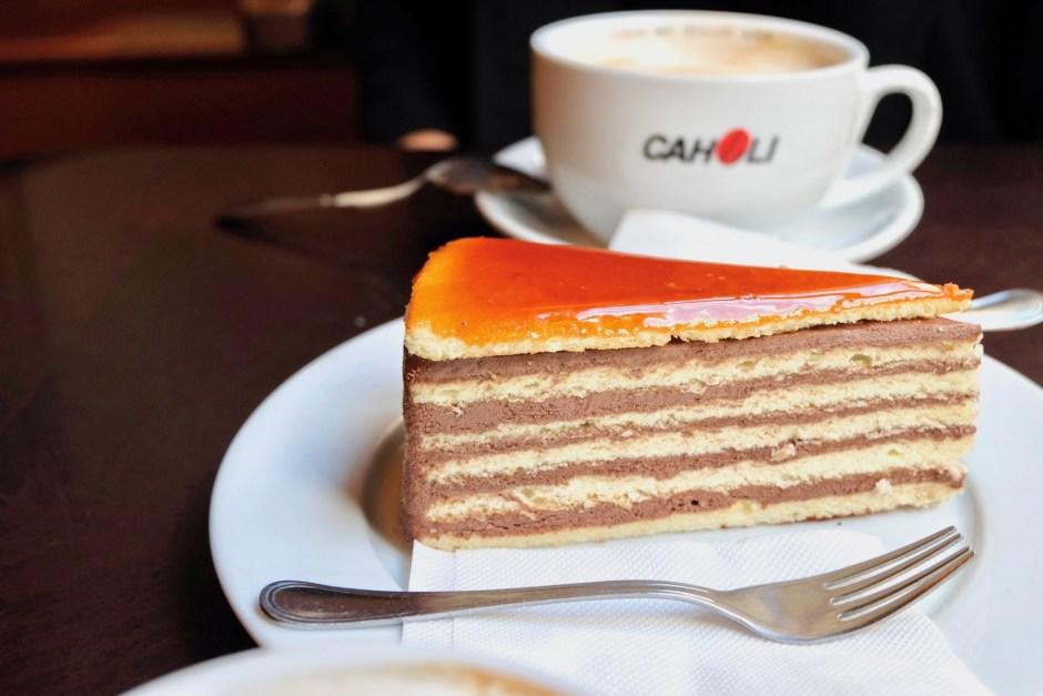 Spinoza Cafe Dobos Torta Cake