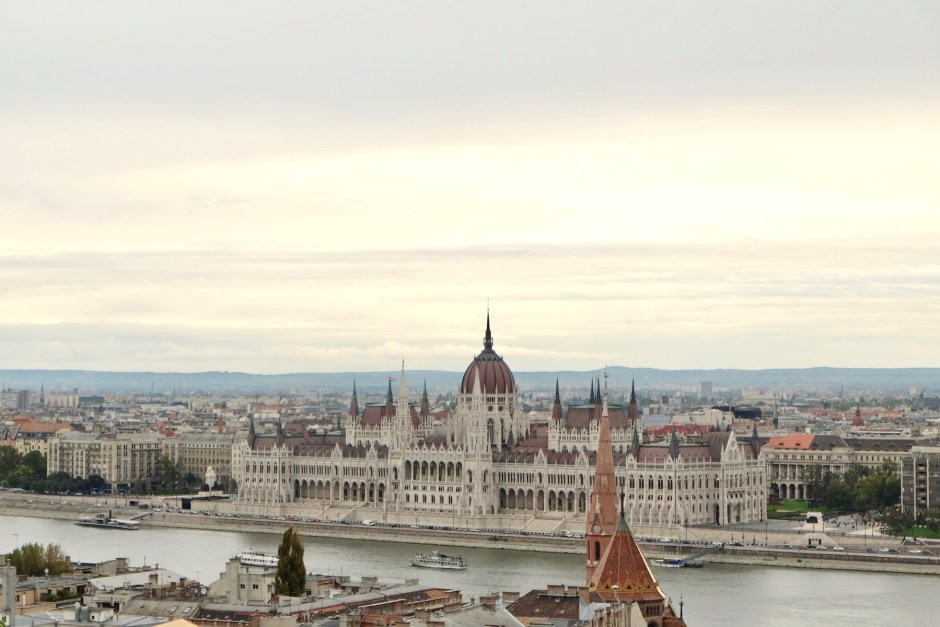 Hungarian Parliament Budapest from Fisherman Bastion
