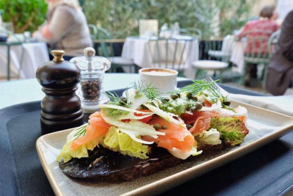 Salmon Open Bread Carlsberg Cafe