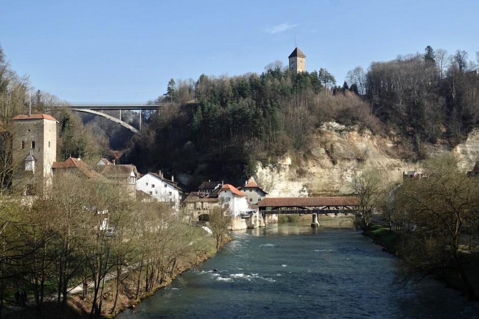 Pont de Bern Bridge Fribourg