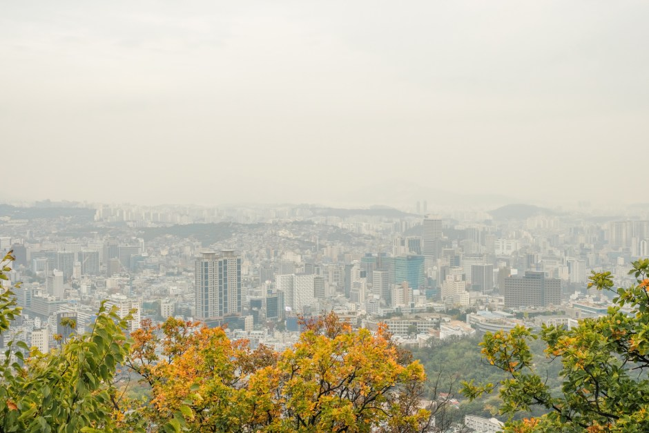 namsan mountain hiking seoul view michelle travel blog