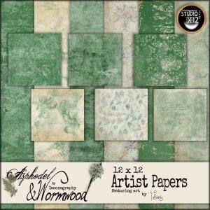 asphodelandwormwood12x12artistpapersdisplay
