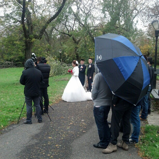 In spite of the fact that New York had the worst hurricane, natural disaster in its history, the wedding must on on #sandy #hurricane # wedding #nyc #queens