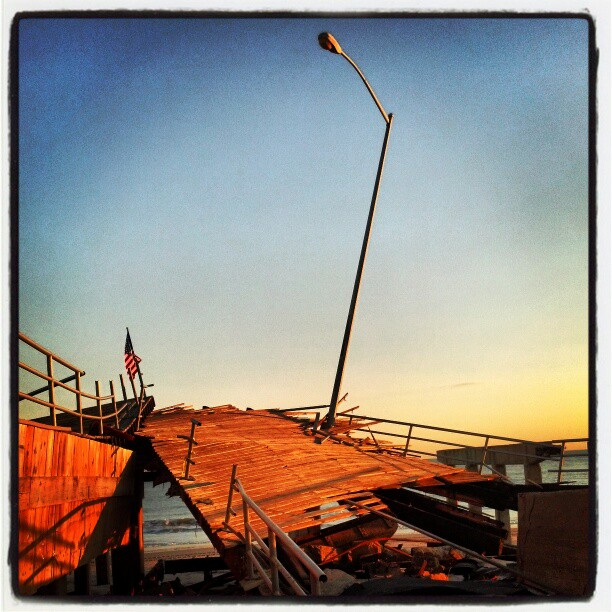 Fracture, Boardwalk, Rockaway #newyork #queens  #sandy #destruction #photography
