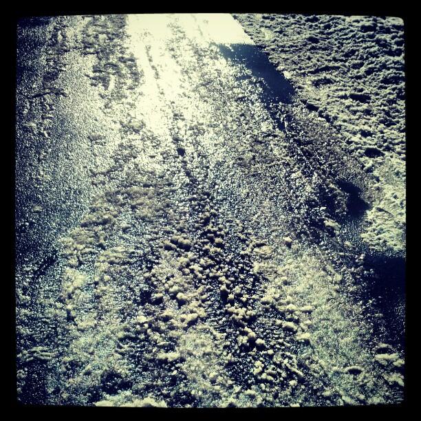 Asphalt abstract #photography #ice #snow #blizzard #newyork