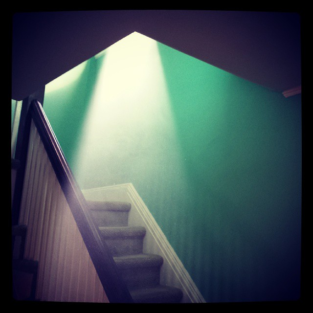 Lightbeam & Staircase #beauty #architecture #green #graphic