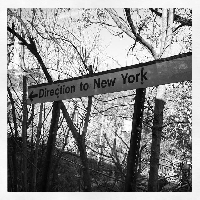 Direction, New York #lirr #train #newyork #sign #longisland #blackandwhite