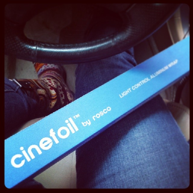Nothing like a fresh roll of #cinefoil #video #lighting #production #movies #cinema #musical #webseries