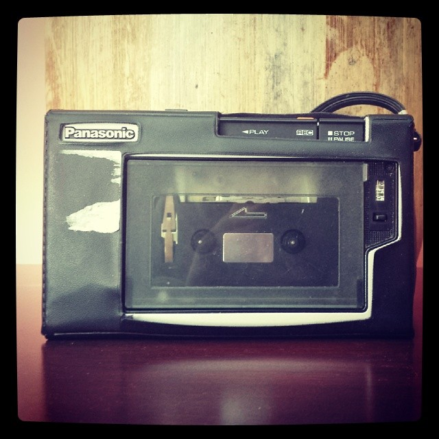Cassette Recorder #vintage #old #recording #music #electronics #panasonic