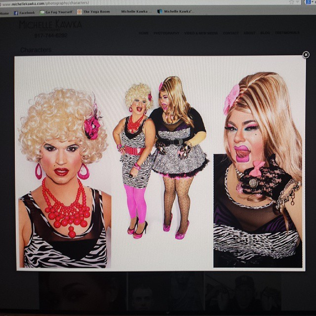 The Haus of Mimosa are the lead photo in my Characters portfolio #drag #comedy #photography #women #hilarious