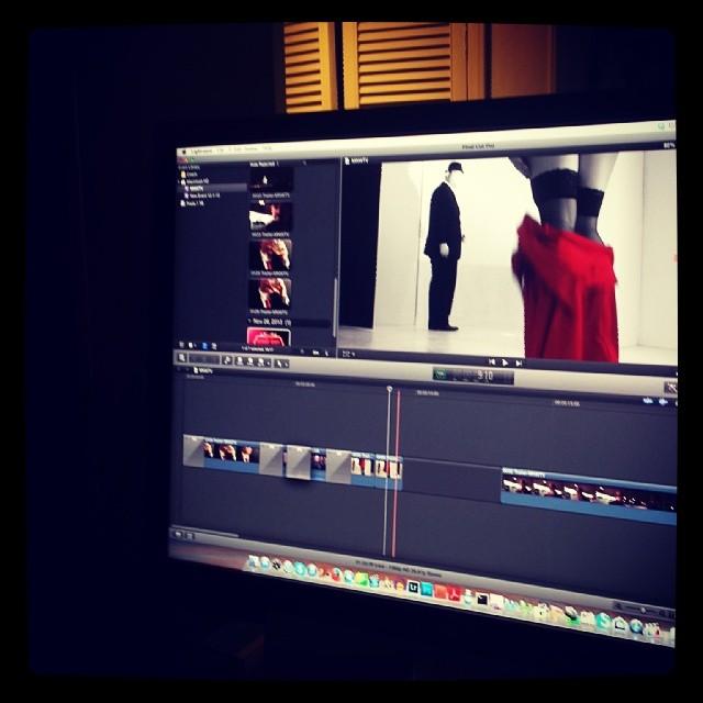 Editing video for Monday Night With Tony Vitti #music #video #newyork #sinatra #jazz #webseries #blackandwhite #red #sexy