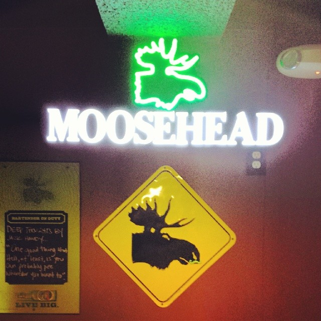 Moosehead #sign #moose #liquor #alcohol