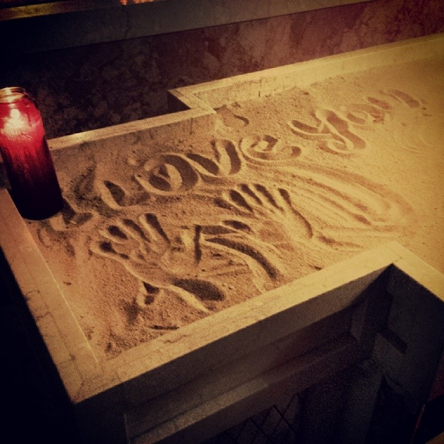 Love You #love #sand #wishes #intentions