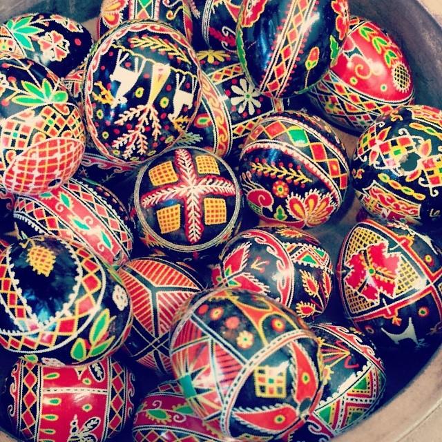 Ukranian Easter Eggs #ukraine #holiday  #tradition #easter #eastereggs