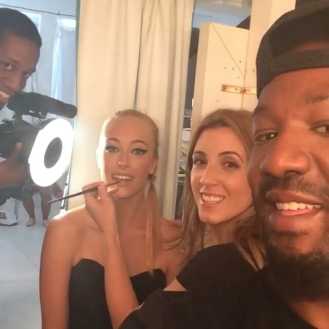 The crew from the Studio Style NYC shoot yesterday.  #glamteam #setlife #fun #photography