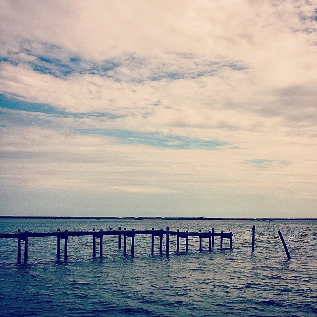 The Dock #seascape #hamptonbays #hamptons #longisland #adoramapix #landscape #newyork #dramatic #blue