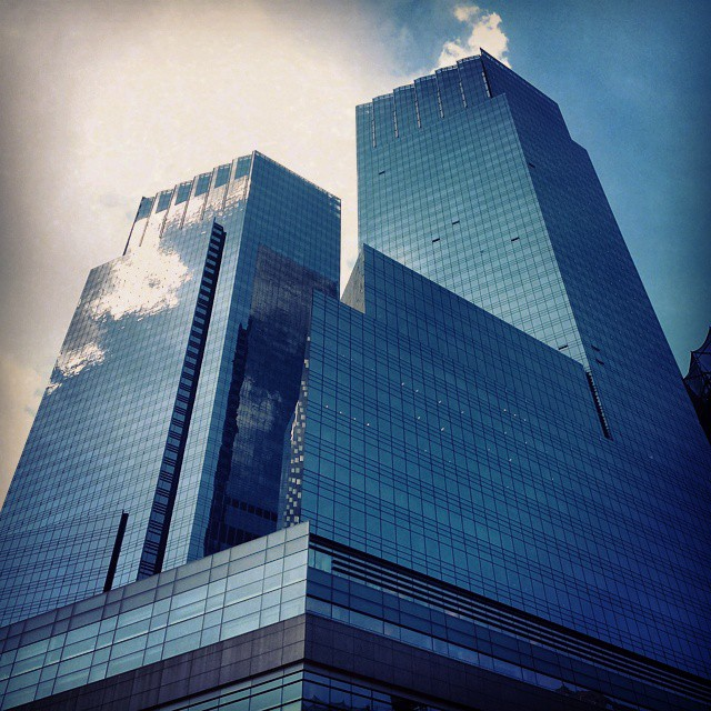 Sky Blue #newyorkcity #color #columbuscircle ##building