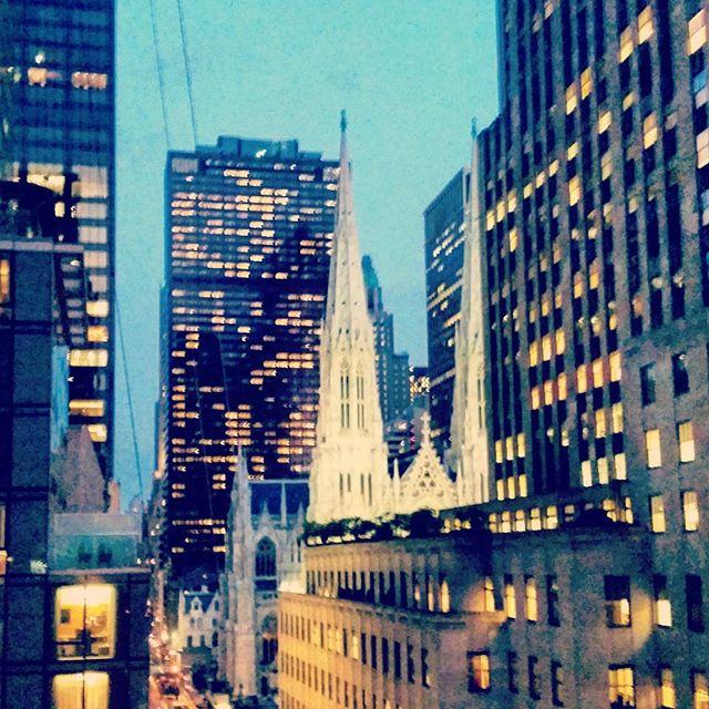 St. Patrick's Cathedral Spires At #Night #newyork #landmark #stpatricks #church #rockerfellercenter