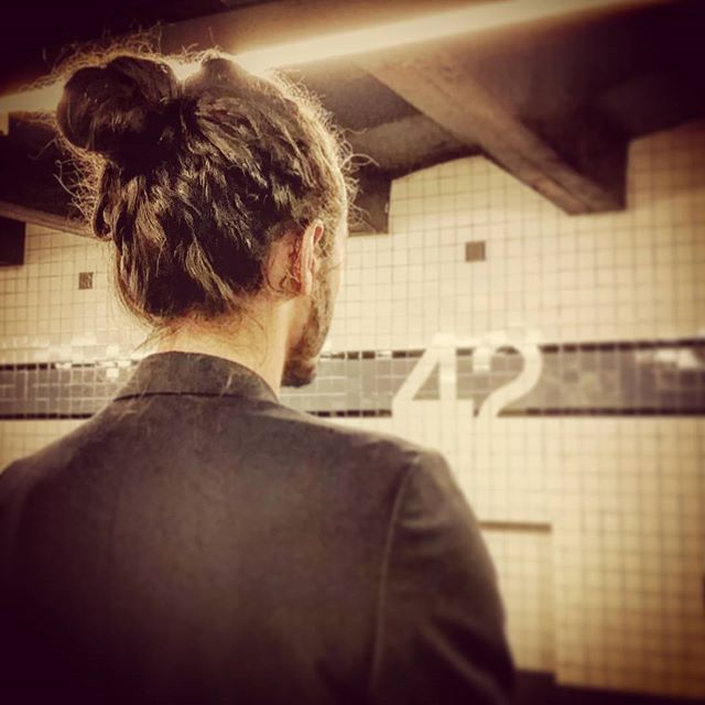 Manbun, 42nd Street #mta #manbun #streetstyle #hipsterlife #hairstyle #men #mensfashion