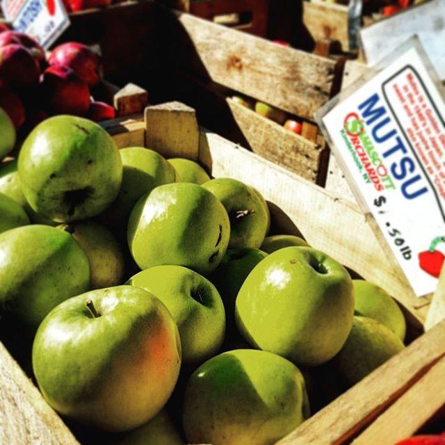 Mutsu #apples #inwood #newyorkcity #uptown #washingtonheights #crisp #resourcenbiteme #cleaneating #farmersmarket