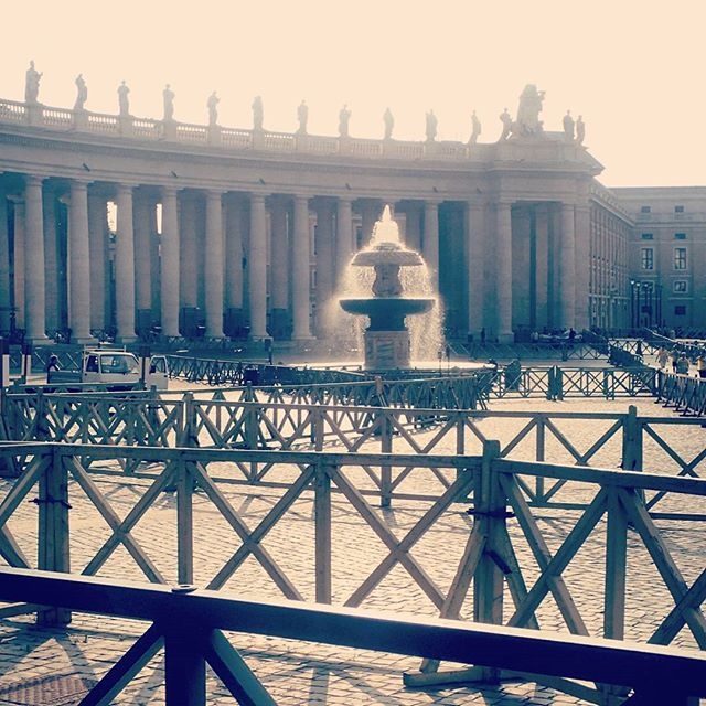 The Fountain, St. Peter's Square #chebellaroma #rome #italy #thevatican
