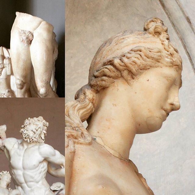 Roman Statues #chebellaroma #rome #italy #latergram #peekaboo