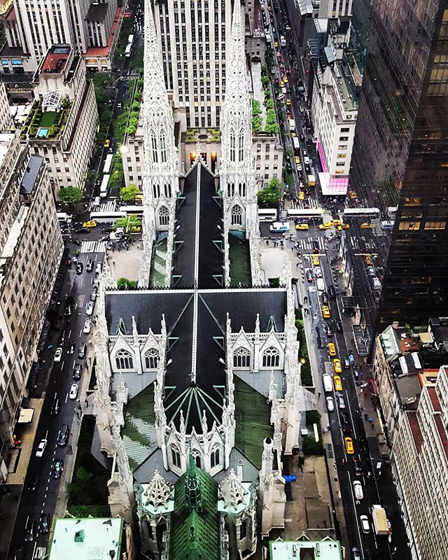 Top of St. Patrick's Cathedral #newyork #newyorkcity #newyorkcitylandmarks #stpatrickscathedral #fromthe53rdfloor