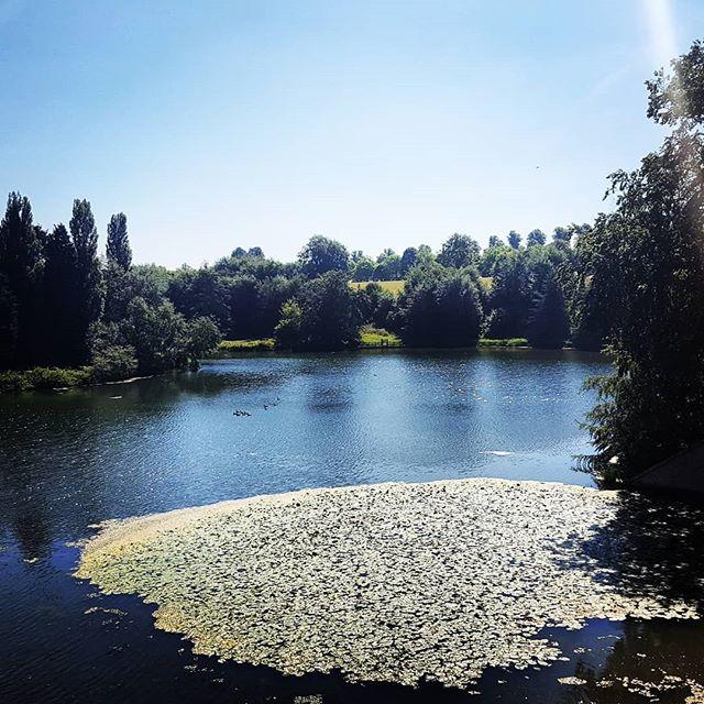 The Blenheim Palace lake, birthplace of Winston Churchill #England #Oxfordshire #uk #scenic #historichomes #UNESCO #worldheritagesite #Churchill