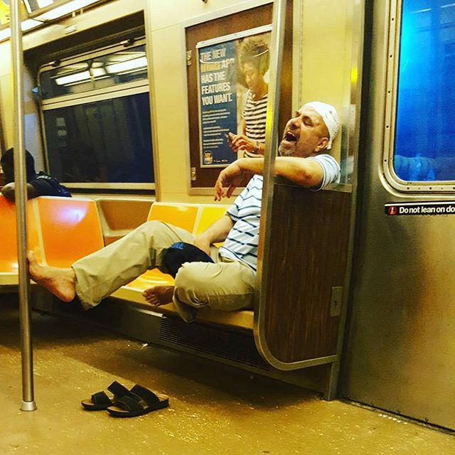 The Joy That Is The Subway #subwaycreatures #subway #newyork #nyc #mta #barefootlifestyle