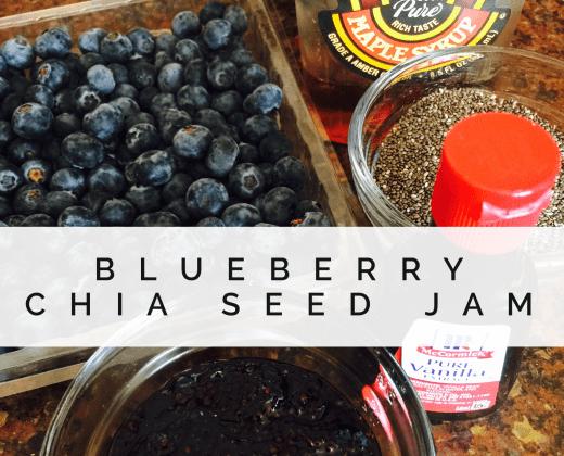 clean eating, chia seed, clean eats, healthy living, breakfast, blueberry jam, diet, weight loss, sugar detox