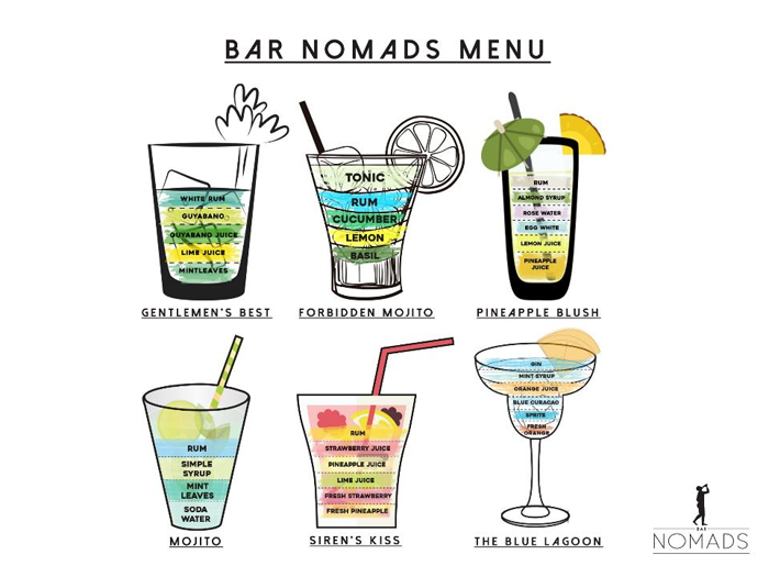 Bar Nomads Menu
