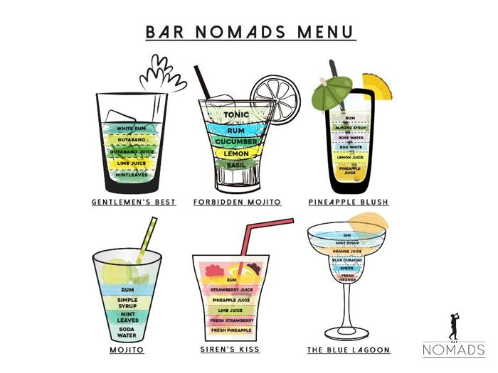 Bar Nomads Menu