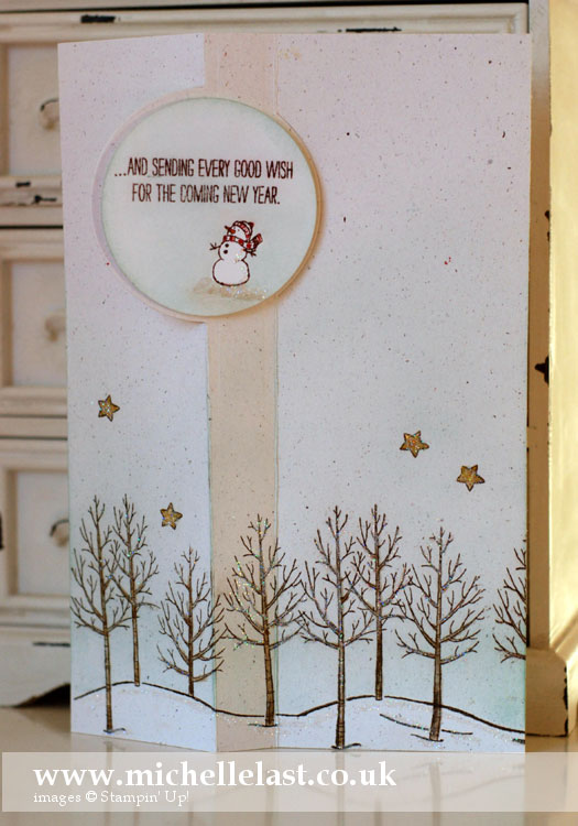 white christmas from stampin up