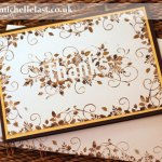 Thankyou card using Seasonally Scattered from Stampin Up